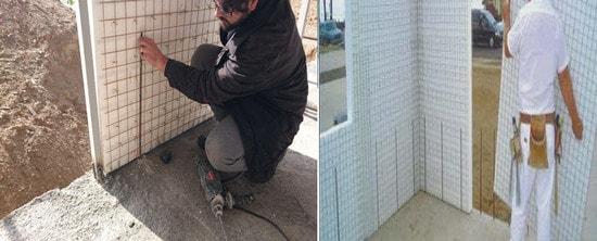 نصب دیوارهای تری دی پنل در سازه بتنی( اجرای تری دی پانل)