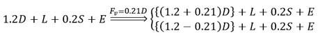 ترکیب بار نیروی آپلیفت بر اساس مبحث ششم