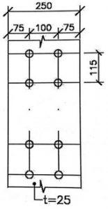 طراحی اتصال گیر دار فلنجی چهار پیچی(محاسبه مقاومت اتکایی ستون)