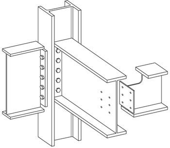 اتصال فلنجی تیر به تیر و اتصال فلنجی تیر به ستون