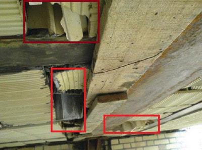 اجرای اشتباه سقف کرومیت