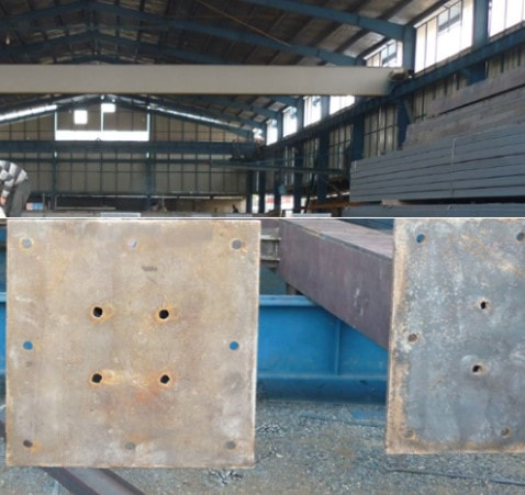 اتصال ورق کف ستون به ستون در کارخانه