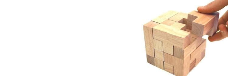 کامل کردن یک مکعب چوبی