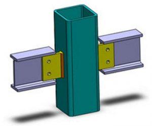 اتصال مفصلی تیر به ستون