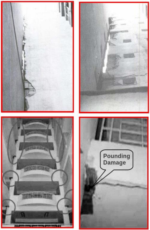آسیب های وارد بر سازه به دلیل عدم اجرای درز انقطاع در ساختمان