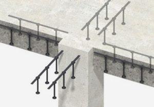 استفاده از سیستم ریلی برشگیر خاص (stud rail) برای رفع مشکل کنترل برش پانچ
