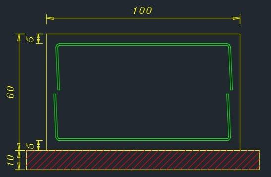 عدم نیاز به اور لپ، وقتیکه نقش آرماتورهای عرضی کنترل برش نباشد و فقط حرارتی باشند.