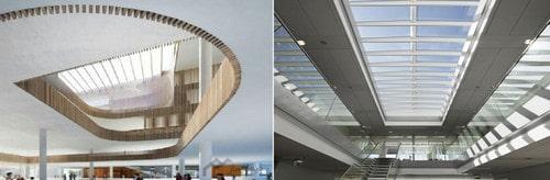 سازه نامنظم به علت وجود بازشو در سقف
