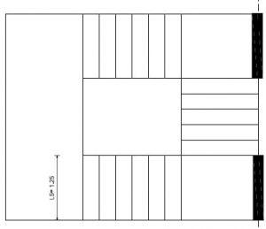 تاثیر محل قرارگیری دیوارک بتنی در بارگذاری راه پله بین 3 تکیه گاه