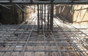 خاموت گذاری ریشه ستون ها در داخل فونداسیون