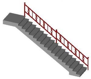 راه پله یک رمپ (راه پله یک طرفه)