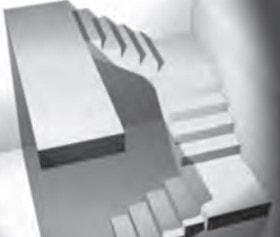راه پله سه رمپ (راه پله سه طرفه)