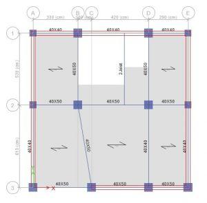 اعمال فشار جانبی خاک (Soil) و فشار دینامیکی زلزله (RWE) برای سایر دیوارها