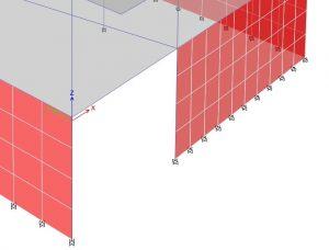 عدم مدلسازی دیوار حائل در محل رمپ دسترسی