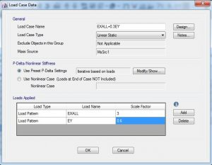 اعمال ضریب اضافه مقاومت در قسمت load case
