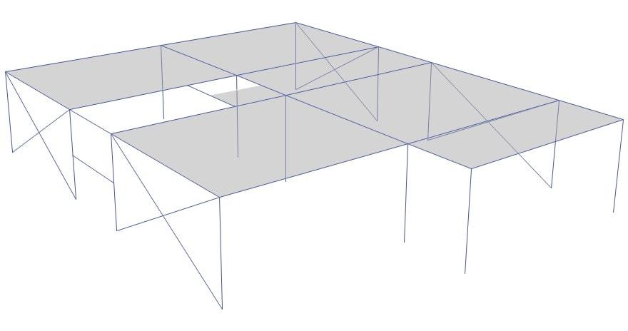 ضریب اضافه مقاومت متفاوت در سازه های بتنی در دو جهت