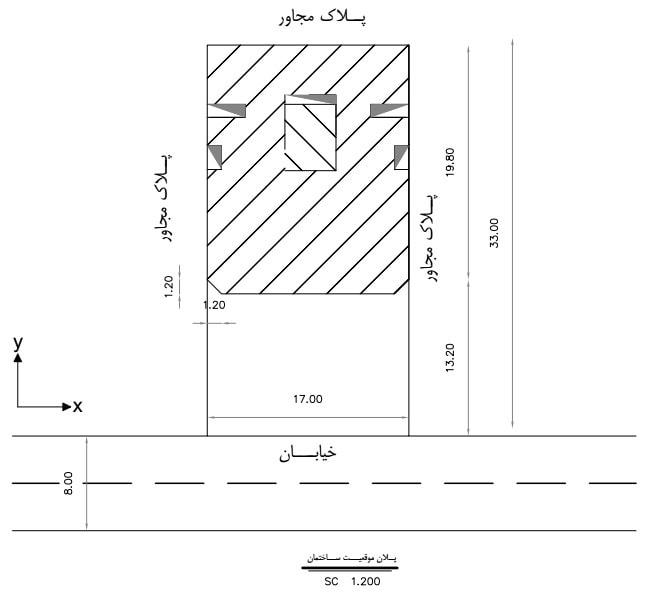نقشه موقعیت ساختمان