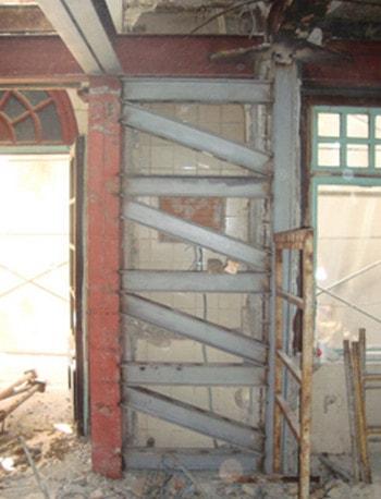 استفاده از ورق های فولادی قفسه ای برای مقاوم سازی ستون کوتاه سازه