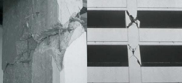 ترک های مورب برشی در اثر پدیده ستون کوتاه
