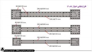 طراحی ساختمان بتن آرمه در ایتبس