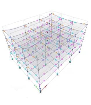رنگ بندی سطوح عملکرد ساختمان در نرم افزار Sap و Etabs