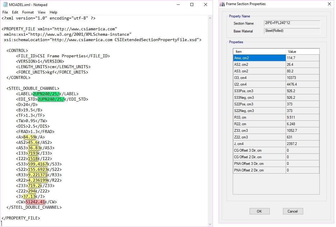 اصلاح اطلاعات مقطع ساخته شده در ایتبس در فایل XML