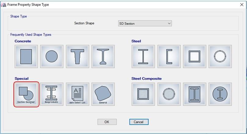 استفاده از Section Designer برای مدلسازی تیر لانه زنبوری در ETABS