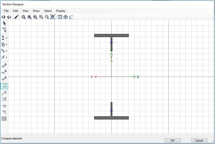 مدلسازی تیر لانه زنبوری در محیط Section Designer ایتبس