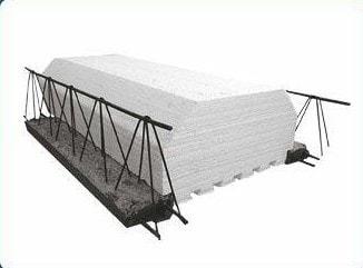 سقف تیرچه بلوک با بلوک های پلی استایرن