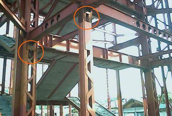 استفاده از ورق تقویتی و ورق سختکننده در ستون دوبل