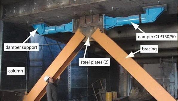 استفاده از دمپر برای مقاوم سازی ساختمان