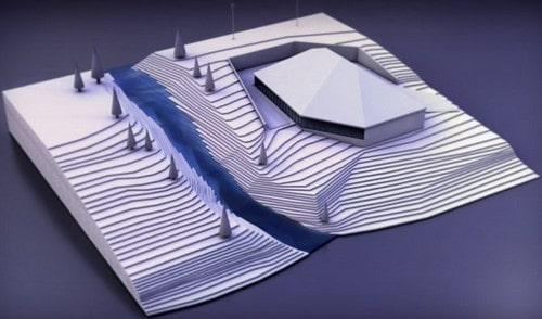 سازه واقع شده در زمین با شیب طبیعی متفاوت
