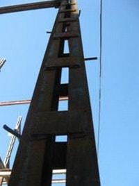 ستون مرکب یا دوبل با بست موازی با استفاده از نیم رخ
