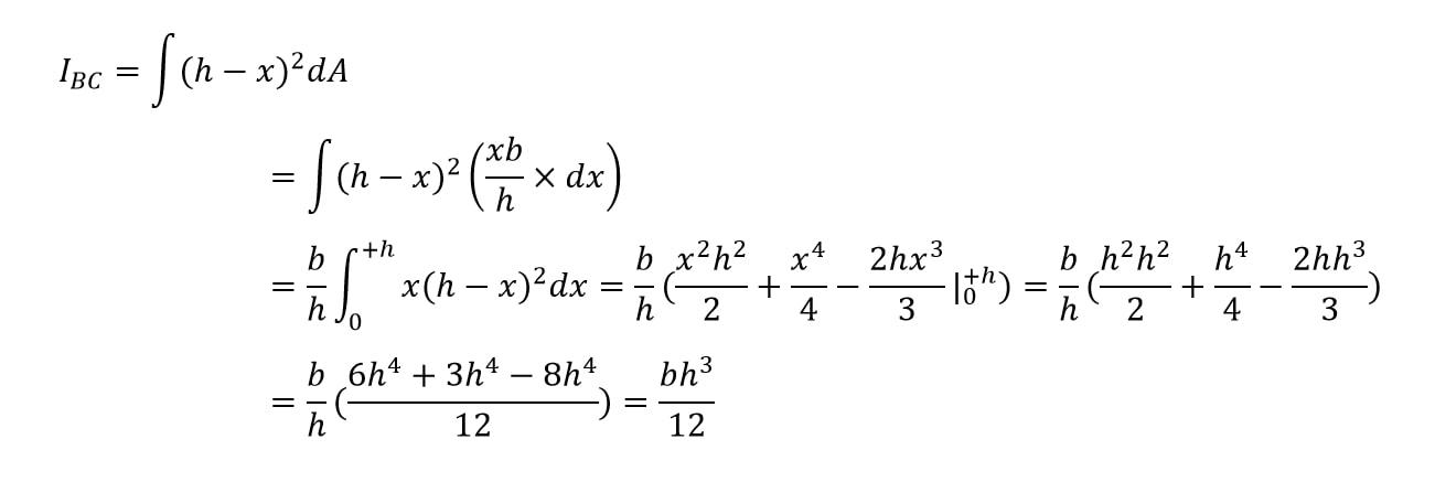 محاسبهی ممان اینرسی مثلث