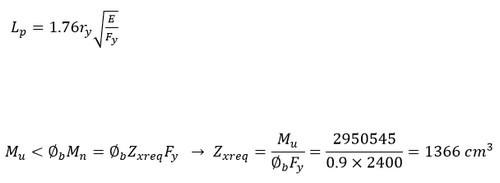 فرمول اساس مقطع تیر