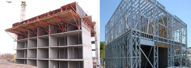 سیستم دیوار باربر یکی از سیستم های باربر جانبی سازه (سیستم قاب فولادی سبک lsf و دیوار باربر بتنی)