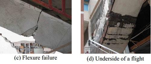 شکست رمپ پله به علت اجرای نادرست راه پله