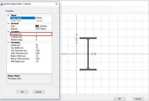 ساخت مقطع نهایی در Section Designer(مرحله به مرحله ساخت مقاطع مرکب در etabs)