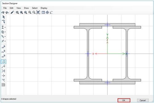مقطع نهایی تبدیل شده به Poly( رفع ایراد ابعاد هندسی در SD section)