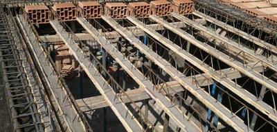 سقف تیرچه بلوک به عنوان یک سقف که دال یک طرفه دارد