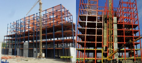 ساختمان فولادی با ترکیب سیستم باربر جانبی در ارتفاع