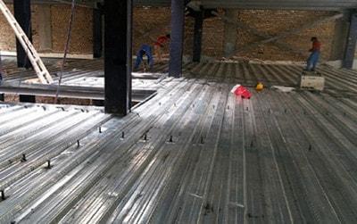 سقف عرشه فولادی به عنوان دال یک طرفه