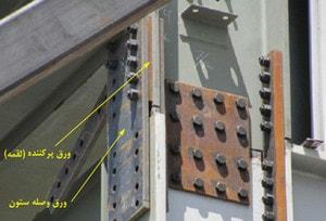 استفاده از ورق پرکننده ی وصله ی ستون