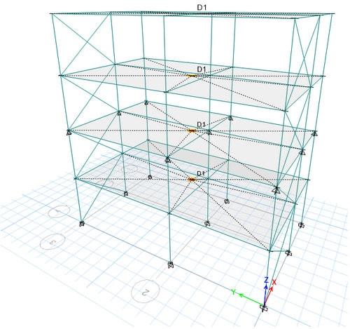 مثال برای کنترل طبقه نرم و عدم ایجاد نامنظمی سختی جانبی در ارتفاع سازه