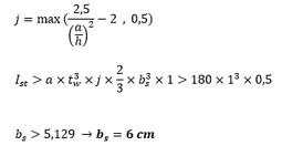 محاسبه عرض ورق سخت کننده در تیر ورق