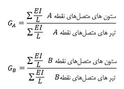 فرمول تعیین ضریب طول موثرستون(فرمول ضریب طول موثر)