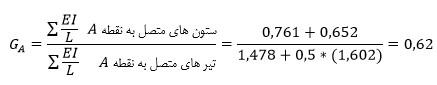 محاسبه ضریب طول موثر در ستون