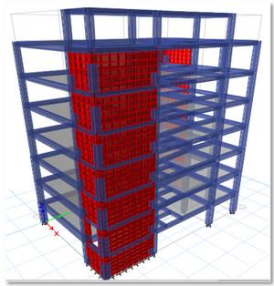 یک سازه با سیستم دوگانه یا ترکیبی