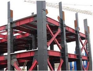 سازه ساخته شده با سیستم دوگانه قاب خمشی و مهاربند