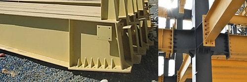 انواع اتصالات تیر به ستون در سوله( اتصال فلنجی)